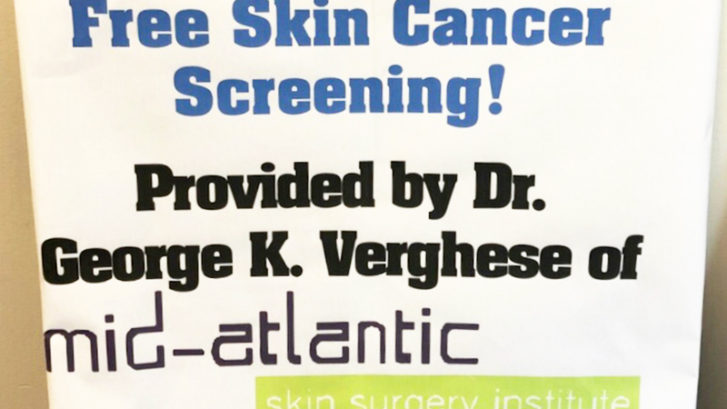 free skin cancer screenings maryland