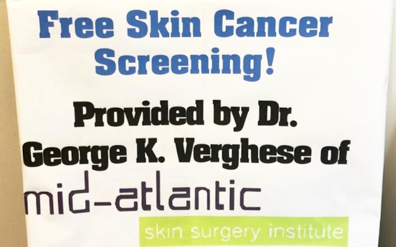 free skin cancer screenings maryland