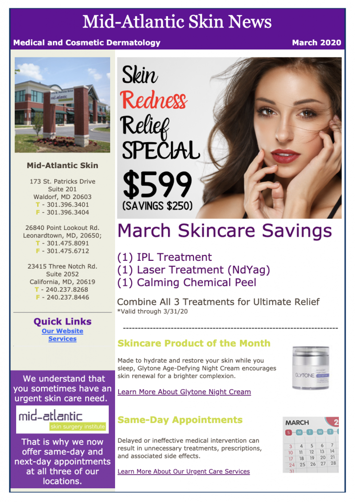 monthly specials southern maryland